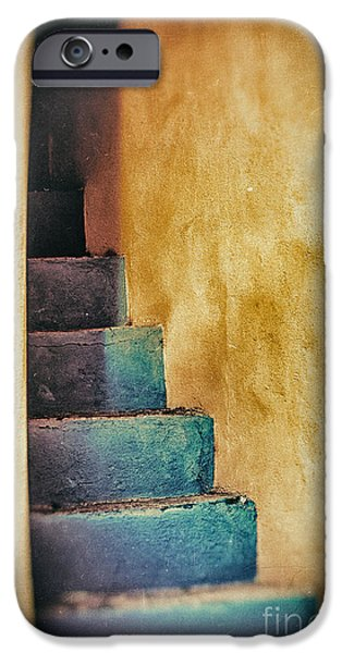 Blue Stairs - Yellow Wall    IPhone 6 Case by Silvia Ganora