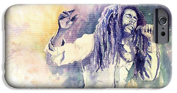 Reggae iPhone Cases - Bob Marley iPhone Case by Yuriy  Shevchuk
