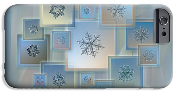 Snowflake Collage - Bright Crystals 2012-2014 IPhone 6 Case