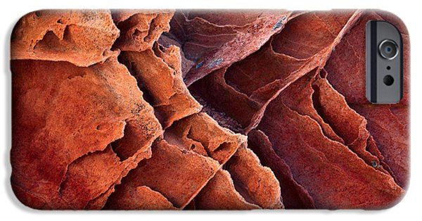 Harsh iPhone Cases - Brittle Rock iPhone Case by Inge Johnsson
