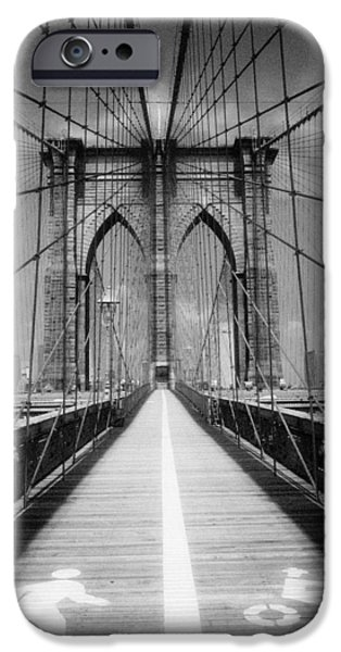 IPhone 6 Case featuring the photograph Brooklyn Bridge Infrared by Dave Beckerman