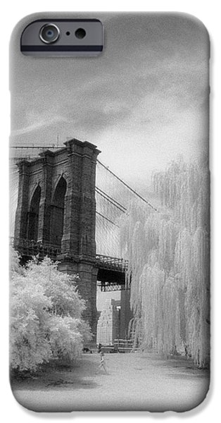 IPhone 6 Case featuring the photograph Brooklyn Bridge Willows by Dave Beckerman