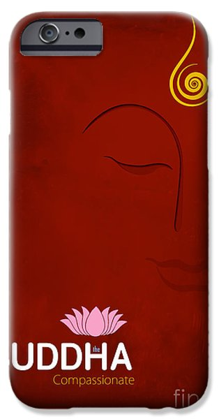 Buddhism iPhone 6 Case - Buddha The Compassionate by Tim Gainey