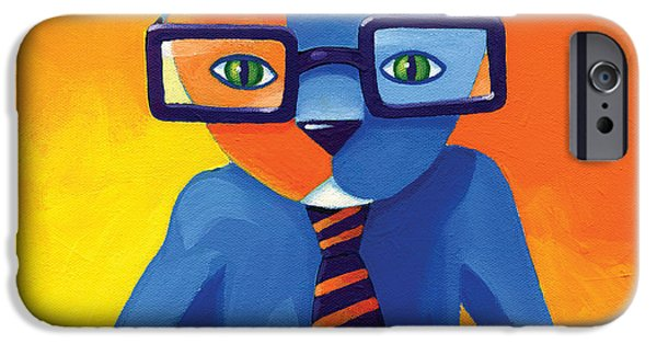 Modern iPhone Cases - Business Cat iPhone Case by Mike Lawrence