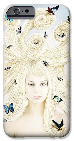Butterfly Girl IPhone 6 Case by Linda Lees