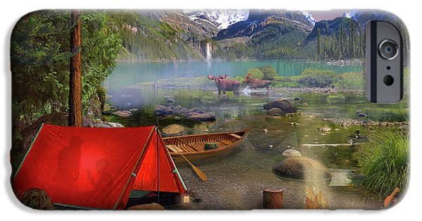 IPhone 6 Case featuring the drawing Canadian Wilderness Trip by David M ( Maclean )