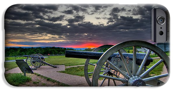 Weapon iPhone Cases - Canon over Gettysburg iPhone Case by Andres Leon
