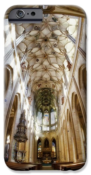 Village iPhone Cases - Cathedral Glow iPhone Case by Joan Carroll