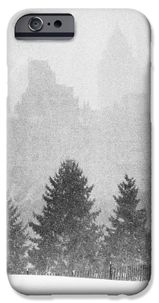 IPhone 6 Case featuring the photograph Cedar Hill Snow Shapes by Dave Beckerman