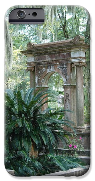 Cemetary iPhone Cases - Cemetary iPhone Case by Kathy Gibbons