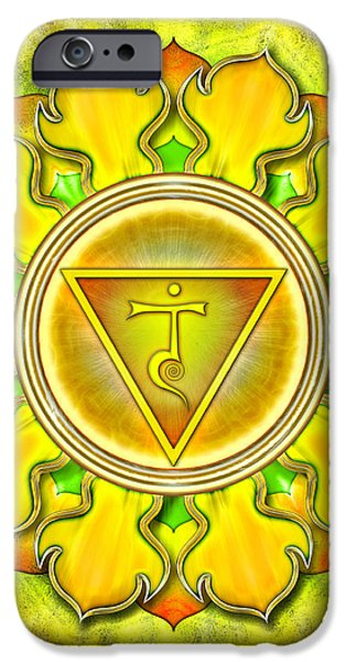 Chakra Manipura Series 2012 iPhone Case by Dirk Czarnota