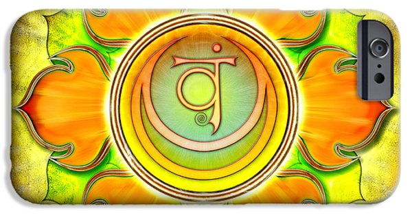 Energize iPhone Cases - Chakra Swadhisthana Series 2012 iPhone Case by Dirk Czarnota