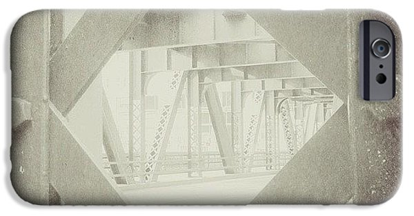 Architecture iPhone 6 Case - Chicago Bridge Ironwork Vintage Photo by Paul Velgos