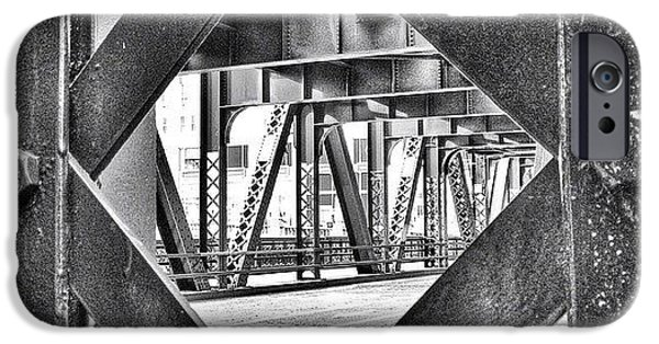 Architecture iPhone 6 Case - Chicago Bridge Iron In Black And White by Paul Velgos