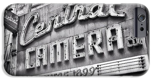 Architecture iPhone 6 Case - Chicago Central Camera Sign Picture by Paul Velgos