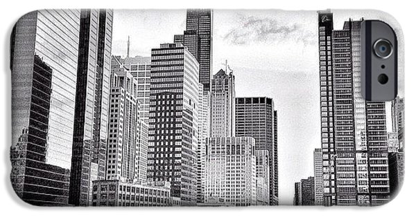 Chicago River Buildings Black And White Photo IPhone 6 Case