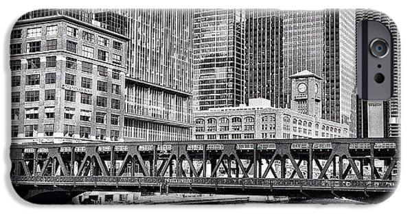 Wells Street Bridge Chicago Hdr Photo IPhone 6 Case