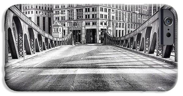 Architecture iPhone 6 Case - #chicago #hdr #bridge #blackandwhite by Paul Velgos