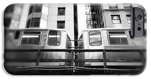 Chicago L Train In Black And White IPhone 6 Case