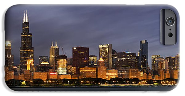 Chicago Skyline At Night Color Panoramic IPhone 6 Case