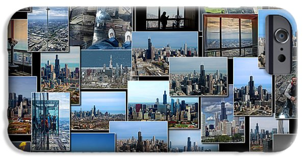 Willis Tower iPhone Cases - Chicagos Sears Willis Tower Collage iPhone Case by Thomas Woolworth