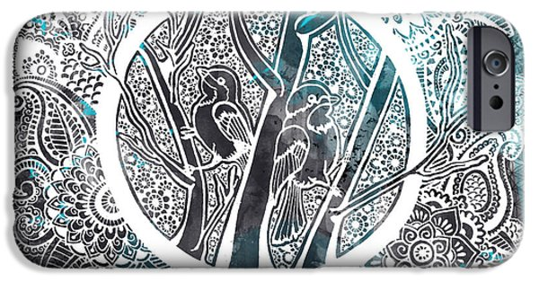Decorative iPhone 6 Case - Chickadees by Andrea Stephenson