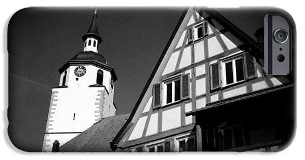 Church And Half-timbered House In Lovely Old Town IPhone 6 Case