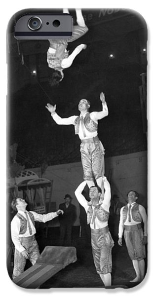 Barnum And Bailey iPhone 6 Case - Circus Acrobats Practicing by Underwood Archives