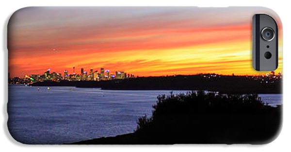 IPhone 6 Case featuring the photograph City Lights In The Sunset by Miroslava Jurcik