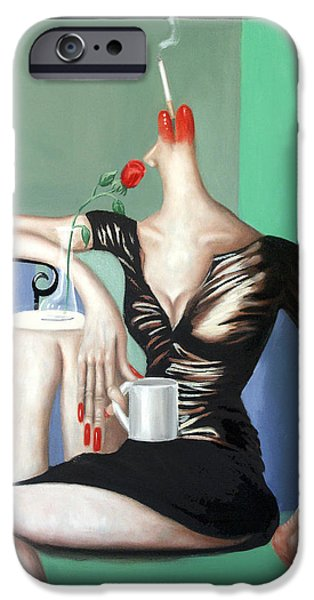 Coffee Drinking iPhone Cases - Coffee Break iPhone Case by Anthony Falbo
