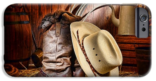 Authentic iPhone Cases - Cowboy Gear iPhone Case by Olivier Le Queinec