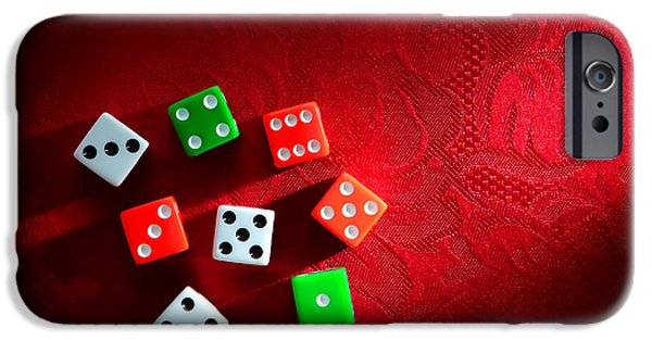 Chance iPhone Cases - Craps  iPhone Case by Olivier Le Queinec