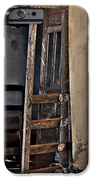 Cabin Window iPhone Cases - Cuervo Frontdoor iPhone Case by Lee Craig