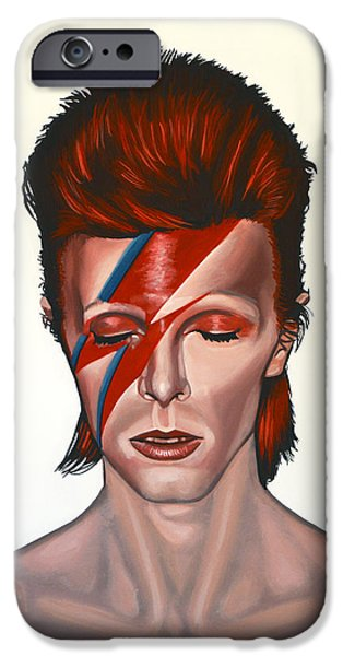 Star iPhone 6 Case - David Bowie Aladdin Sane by Paul Meijering