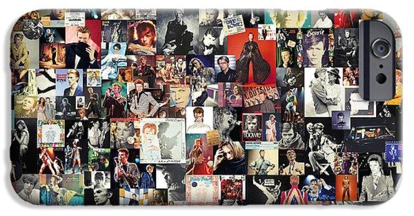 Folk Art iPhone 6 Case - David Bowie Collage by Zapista