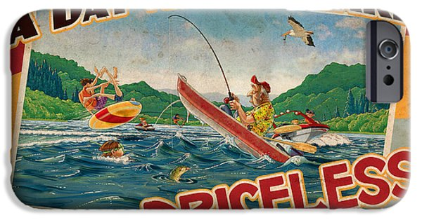 Jet Ski iPhone 6 Case - Day At The Lake by JQ Licensing