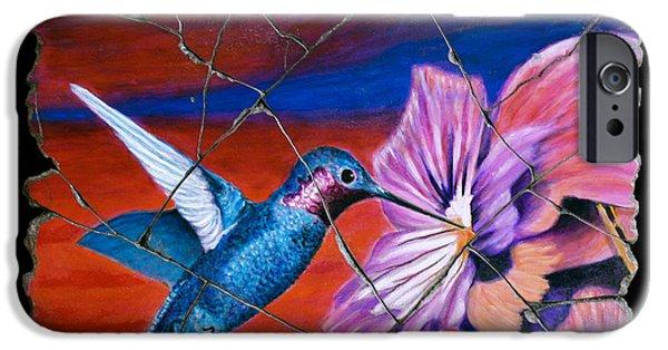 Bogdanoff iPhone 6 Case - Desert Hummingbird by Steve Bogdanoff