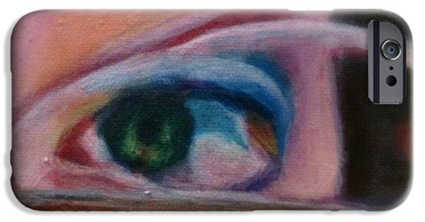 Detail iPhone 6 Case - Detail From Portrait Of Chrissy An Acrylic Painting By Anna Porter Artist by Anna Porter
