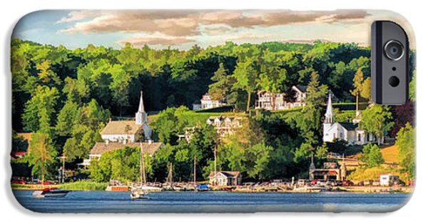 Door County Ephraim Harbor Sunset  Panorama IPhone 6 Case