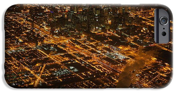 IPhone 6 Case featuring the photograph Downtown Chicago At Night by Nathan Rupert
