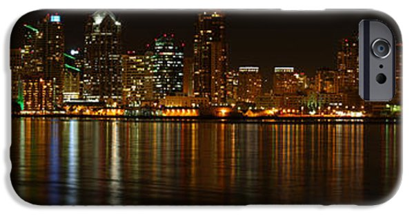 IPhone 6 Case featuring the photograph Downtown San Diego At Night From Harbor Drive by Nathan Rupert