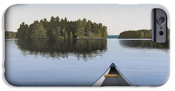 Lake iPhone 6 Case - Early Evening Paddle Aka Paddle Muskoka by Kenneth M Kirsch
