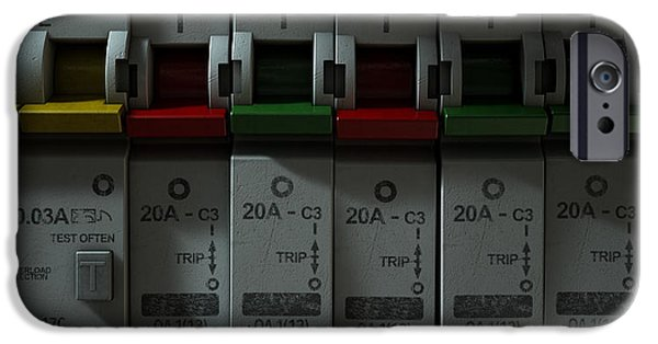 Safety Fuse iPhone 6 Case - Electrical Circuit Breaker Panel by Allan Swart