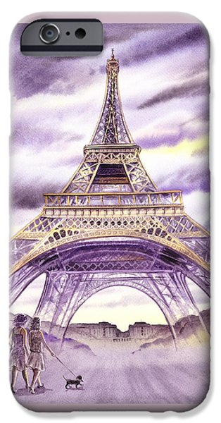 Evening In Paris A Walk To The Eiffel Tower IPhone 6 Case