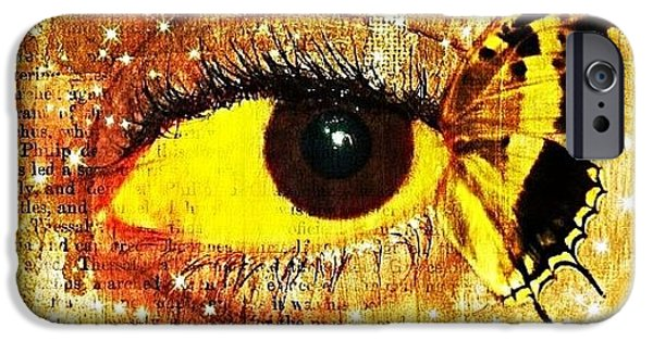Edit iPhone 6 Case - #eye #butterfly #brown #black #edit by Tatyanna Spears