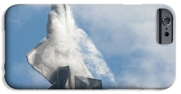 IPhone 6 Case featuring the photograph F-22 Raptor Creates Its Own Cloud Camouflage by Nathan Rupert