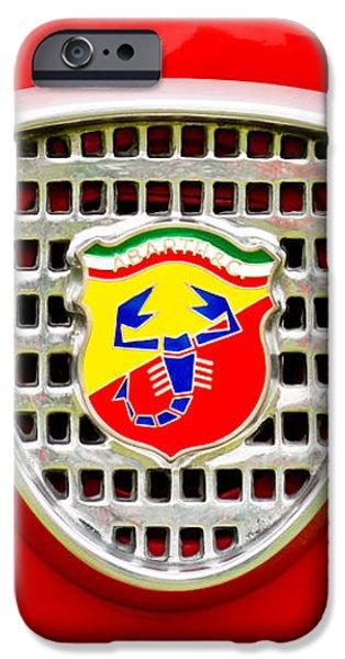 Fiat Emblem iPhone Case by Jill Reger