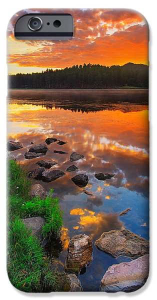 Red iPhone 6 Case - Fire On Water by Kadek Susanto