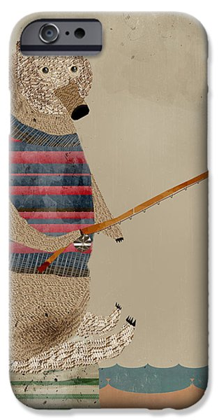 Brown iPhone 6 Case - Fishing For Supper by Bri Buckley