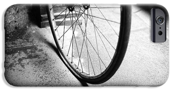 IPhone 6 Case featuring the photograph Flat Bicycle Tire by Dave Beckerman